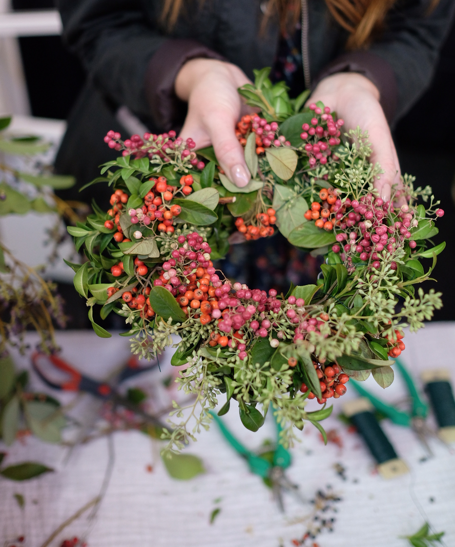Build your own holiday wreath