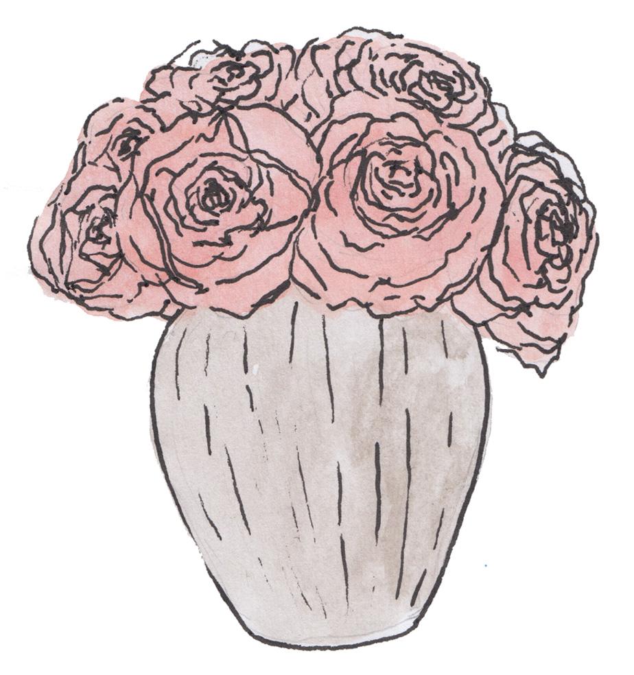 Matildas magnolias matildas magnolias flower arranging roses step 1 arranging roses in a vase izmirmasajfo